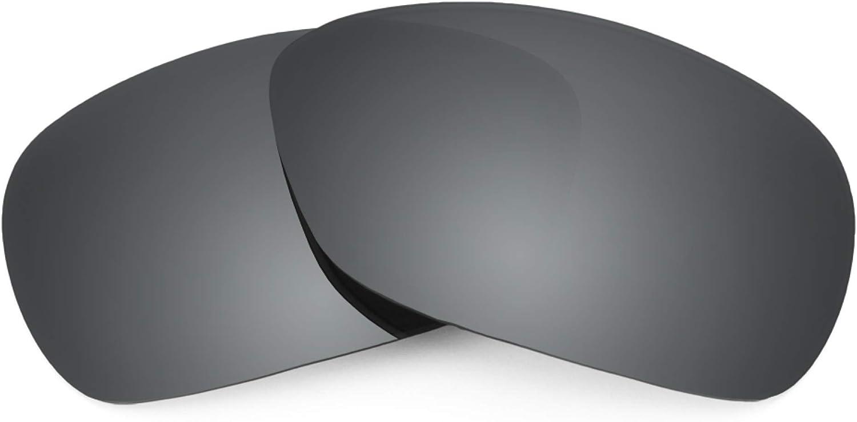 Revant Verres de Rechange pour Oakley C Wire (2011) - Compatibles avec les Lunettes de Soleil Oakley C Wire (2011) Chromé Noir Mirrorshield - Polarisés Elite