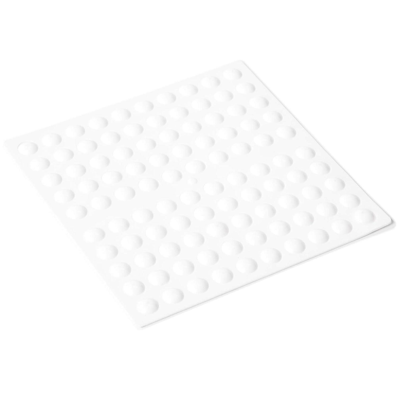 Adsamm/® hemisph/ärisch Top-Qualit/ät H/öhe: 3 mm rund /Ø 10 mm   Transparent halbkugelf/örmig 100 x selbstklebende Anschlagpuffer Elastikpuffer zum Kleben