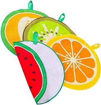 Ruiting Essuie-Mains en Forme de Fruits Petite Serviette Mains pour Cuisine et Salle de Bain 4PCS