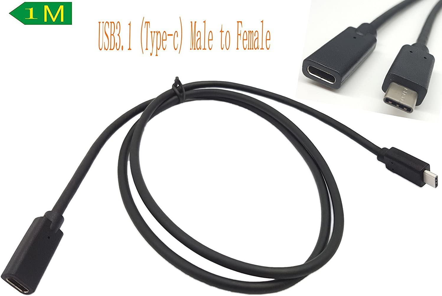 10Gbps USB-C Cable USB3.1 USB-C Type C Male to Female Charging /& Sync Cable,SinLoon High Speed Super Fast Gen 2 1M F3.3ft