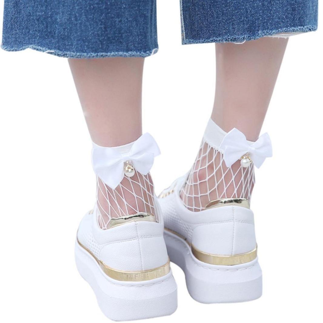 BaZhaHei-Calcetines Calcetines by Cortos del cordón de la Malla de los Pescados de la calceta de la Colmena de Las Mujeres Altos del Tobillo calcetín Mujer ...