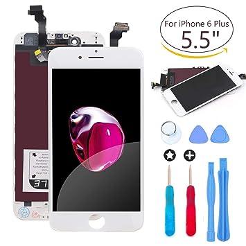 64b7069b88d Ibaye - Para iPhone 6 Plus Blanco Reemplazo de Pantalla Digitalizador  Táctil LCD de Repuesto con Herramientas: Amazon.es: Electrónica