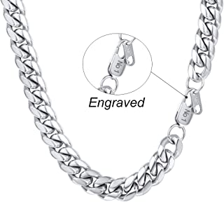 PROSTEEL 10/14 MM Chunky Mens Curb Cuban Chain Necklace, 18/20/22/24/26/28/30Inch, 18K Gold Plated/316L Stainless Steel/Black Color-(with Gift Box) PSN2910H-18