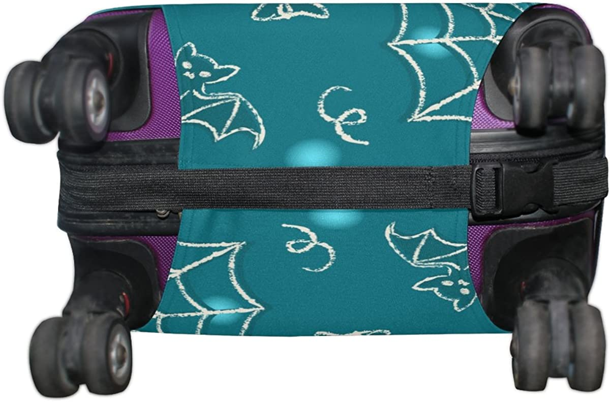 GIOVANIOR Halloween Spider Bat Candle Luggage Cover Suitcase Protector Carry On Covers