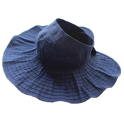 Drawihi Chica de verano montando un sombrero de sol de la bici sombrero plegable UV sombrero