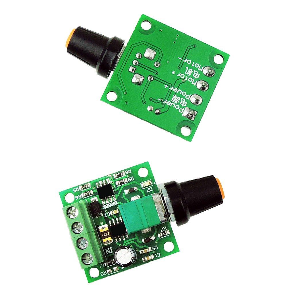 Uniquegoods 18v 3v 5v 6v 72v 12v 2a 30w Dc Motor Speed Controller 12 Volt Reversible Wiring Diagram Pwm 1803bk Adjustable Driver Switch
