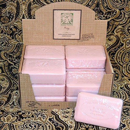 Case of 12 Pre de Provence Peony 250 gram shea butter extra large soap bars (Bar Peony Soap)
