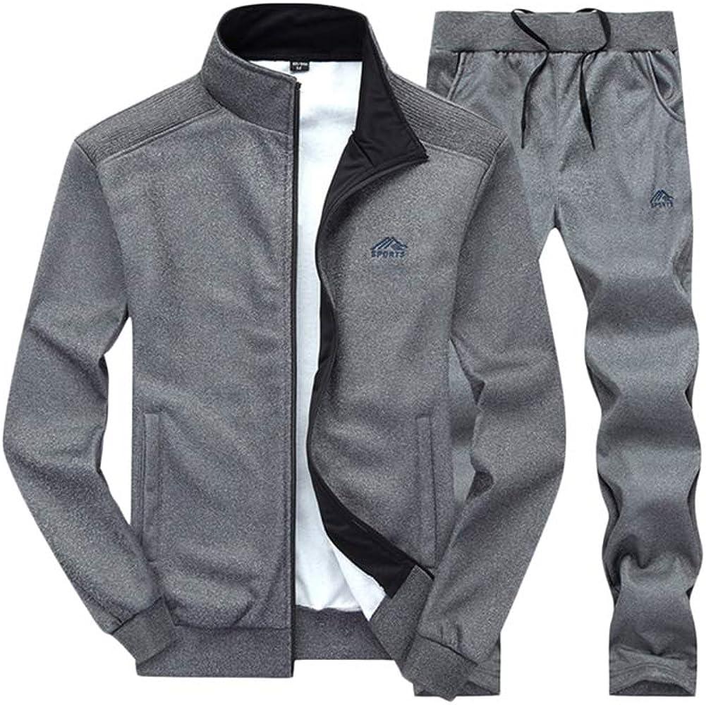 PengGengA Trainingsanzug Herren Jogginganzug F/ür M/änner Sportanzug Freizeitanzug Jogginghose Zip Sweatshirt Oberteil