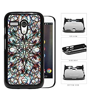 Symmetrical Swirls With Colorful Accents Hard Plastic Snap On Cell Phone Case Motorola Moto G