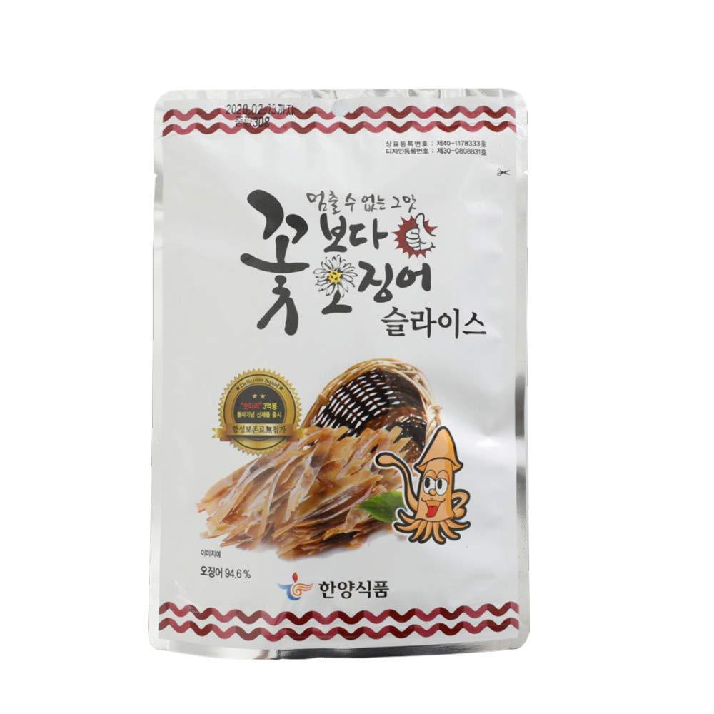 Korea Seasoned Dried Squid Snack Squid Over Flower 15g X 10 Pack 꽃보다오징어