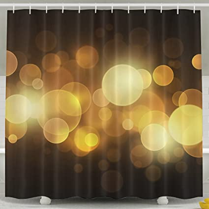 Halo Shower Curtain Abstract Artwork Prints Antibacterial Fabric 60 By 72 Inches