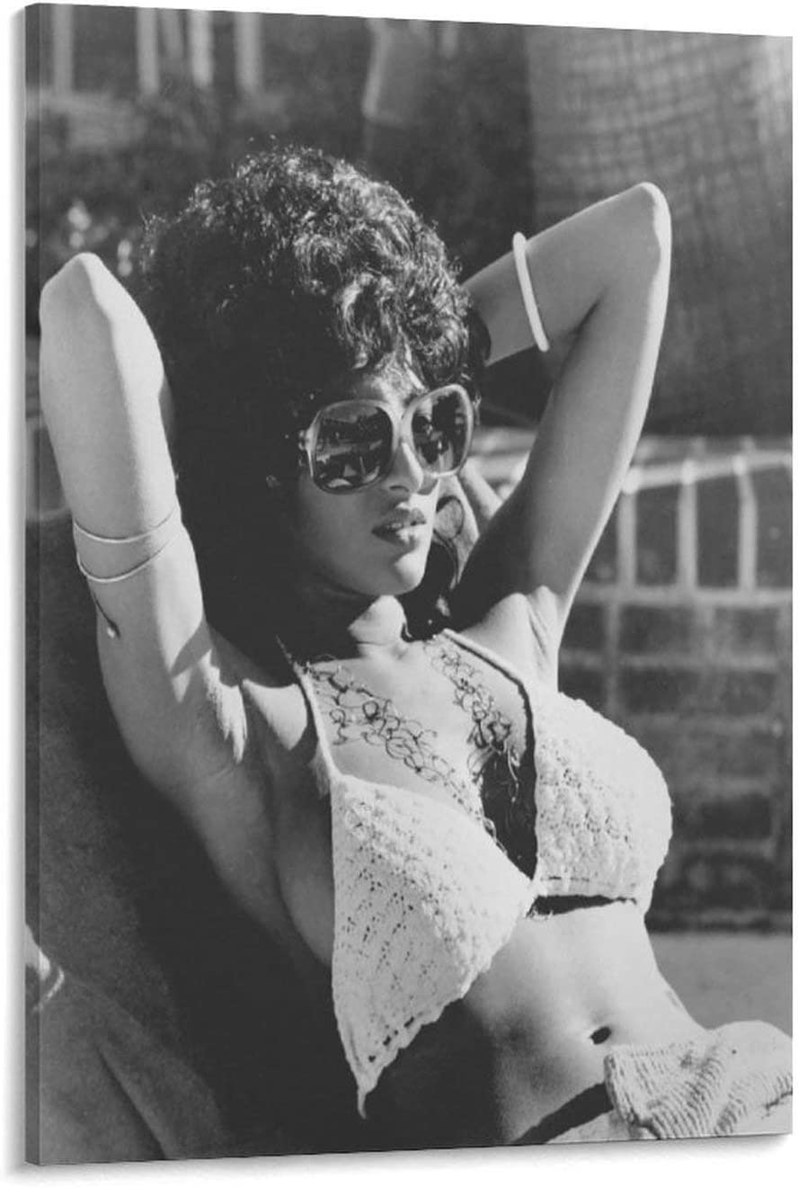 FINDEMO Pam Grier Poster Decorative Painting Canvas Wall Art Living Room Posters Bedroom Painting 24×36inch(60×90cm)