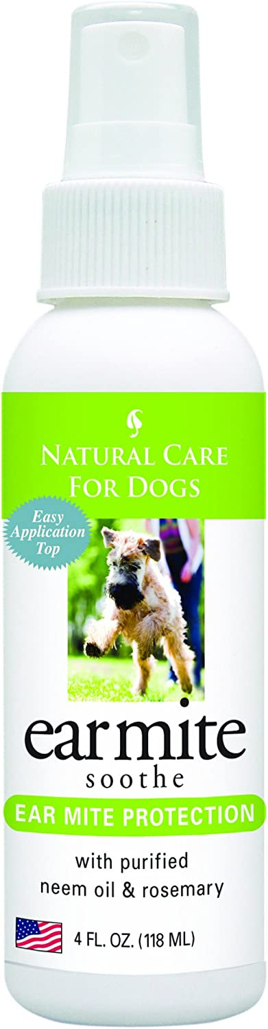 Natural Care for Dogs; Ear Mite Soothe for Ear Mite Protection; 4 fl. oz.