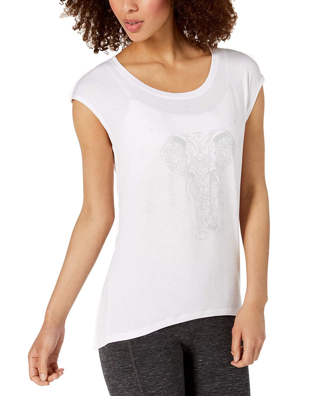 Gaiam Womens Elephant Yoga Workout T-Shirt White S at Amazon ...