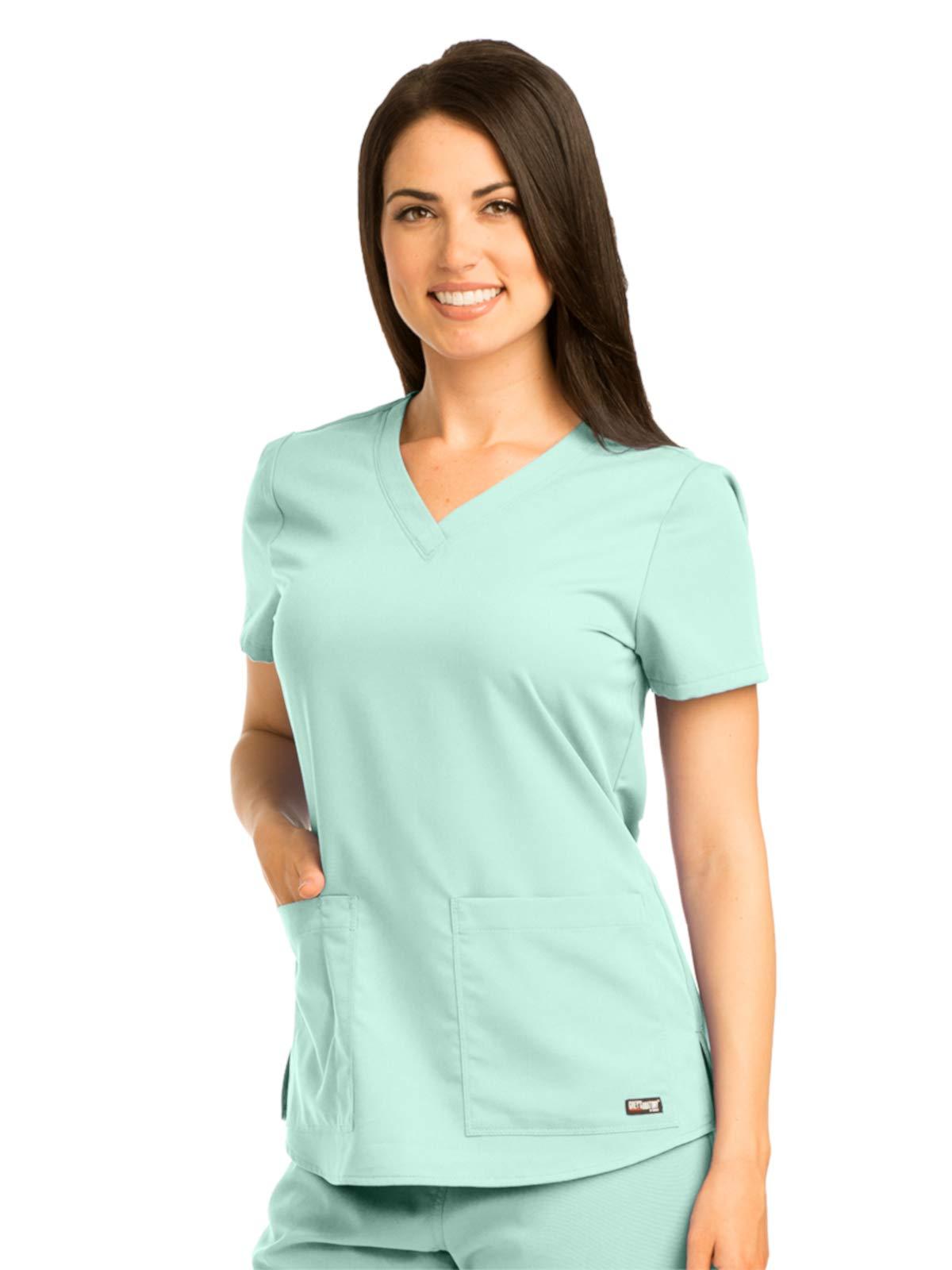 Grey's Anatomy 71166 V-Neck Top Aqua Mist 2XL by Barco