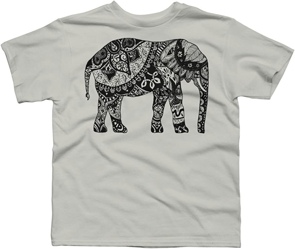 Design By Humans Paisley Elephant Boys Youth Graphic T Shirt