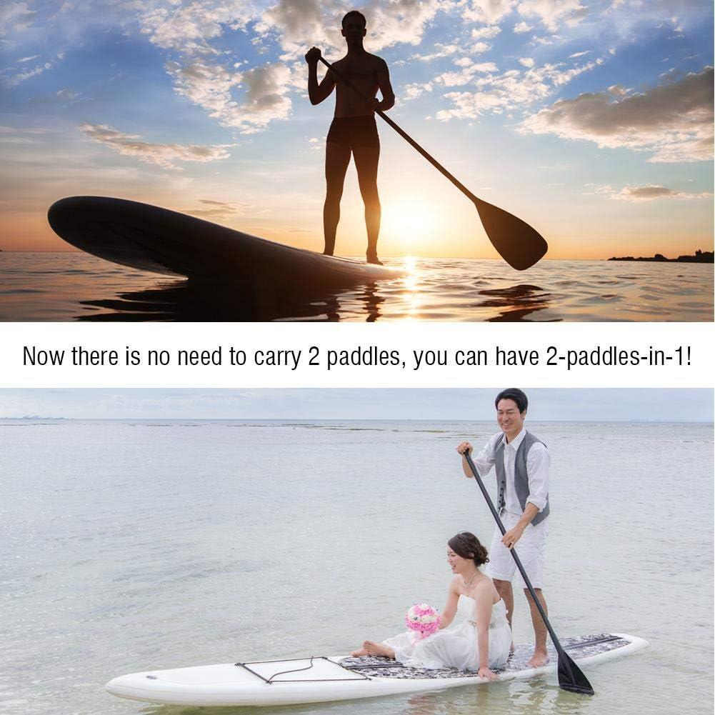 2 part Aluminium Stand Up Paddle Board Paddle Telescopic Board Paddle Black AYNEFY Adjustable Paddle