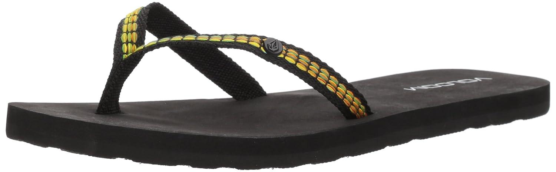 Volcom Women's Trek Jacquard Strap Fashion Sandal Flip-Flop, Ocean, 5 B US
