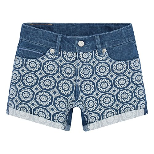 Levi's Big Girls' Boyfriend Fit Denim Shorts, Blue Winds, (Levi Relaxed Fit Shorts)