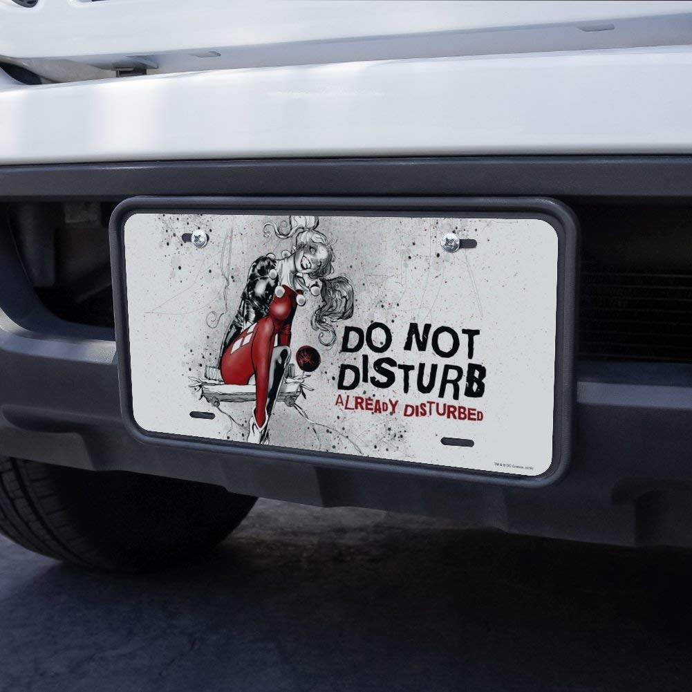 Graphics and More Harley Quinn Already Disturbed Novelty Metal Vanity Tag License Plate