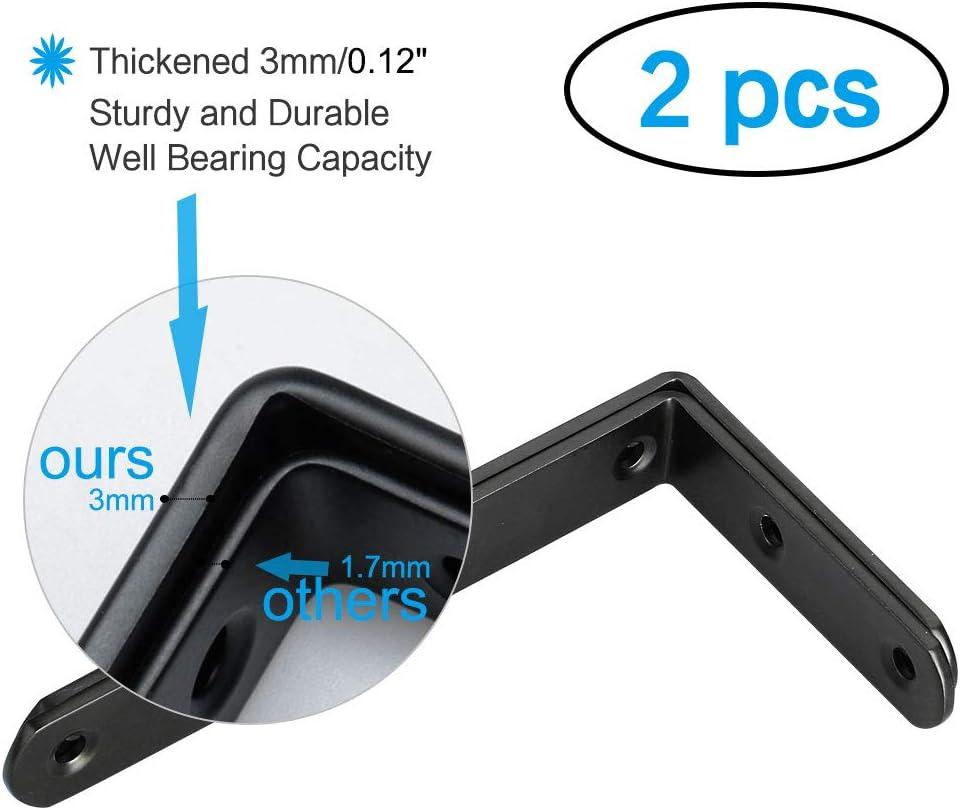 Eckverschluss schwarz Sourcing Map Winkelhalterung Eckschutz Edelstahl Schrank 50 x 50 mm Regalst/ütze f/ür DIY-Regale 4 St/ück L-f/örmig rechtwinklig
