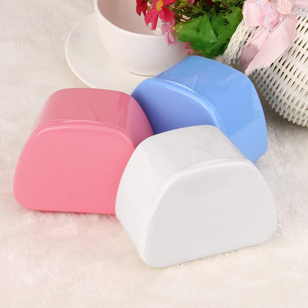 Hohaski Denture Bath Appliance False Teeth Box Storage Case Rinsing Basket Professional Dental Supplies Color Random(White, Blue & Pink) by Hohaski (Image #3)