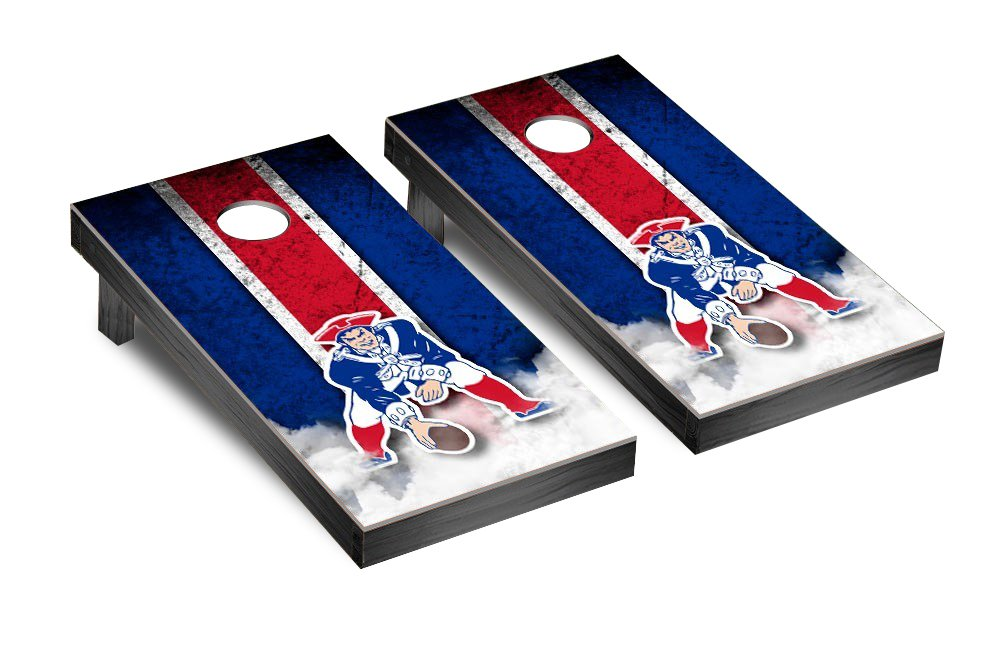 NFL New England Patriots Throwback Vintage Version Football Corn hole Game Set, One Size