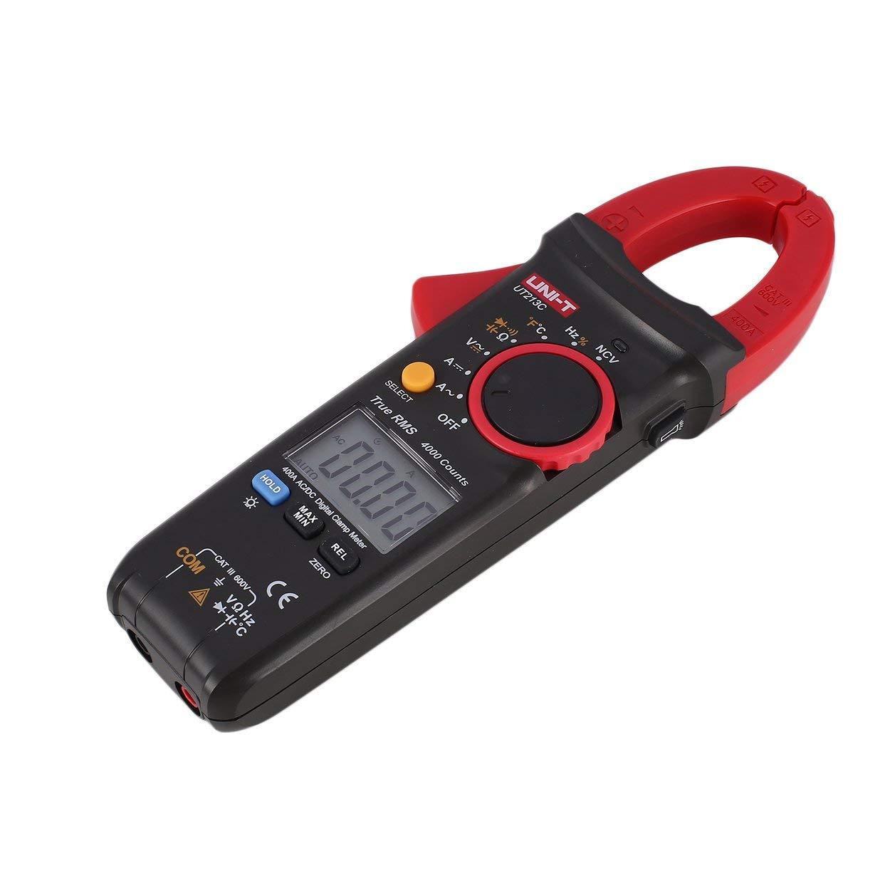 NI-T UT213C 400A - Tensiómetro digital (capacidad de resistencia, multímetro de temperatura, diodo True RMS): Amazon.es: Bricolaje y herramientas