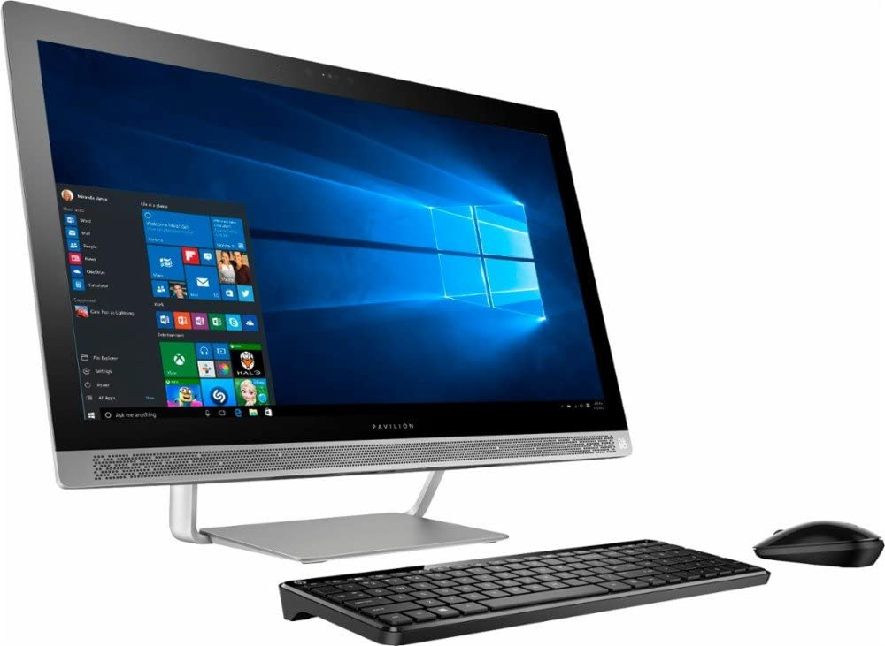 "Premium HP Pavilion 27"" Full HD IPS Touchscreen All-in-One Desktop, Quad Core Intel i7-7700T, 12GB DDR4 RAM, 1TB 7200RPM HDD, DVD, 802.11AC, BT, HDMI, B&O Audio, Wireless Keyboard and mouse-Win10"