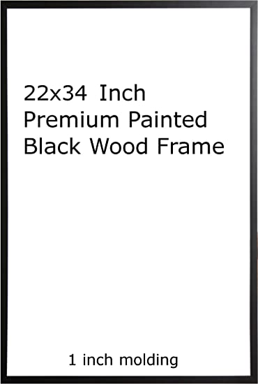 eight8 wood painted black poster frame 22x34 or 34 x 22
