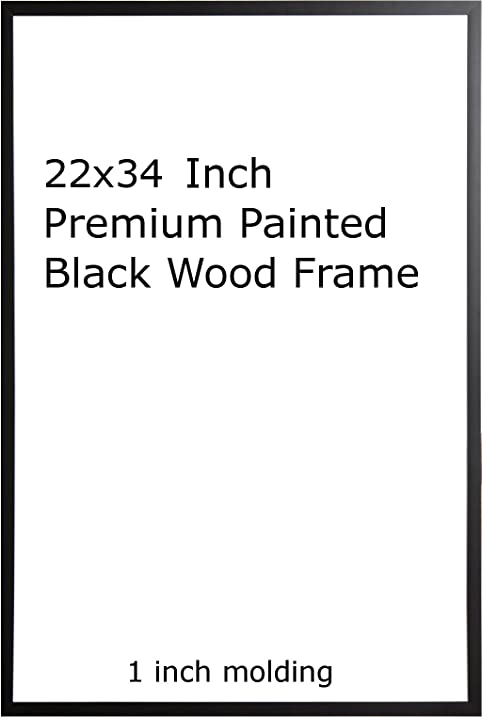Amazon.com - Two(2) Wood Painted Black Poster Frame 22x34 or 34 x 22 -