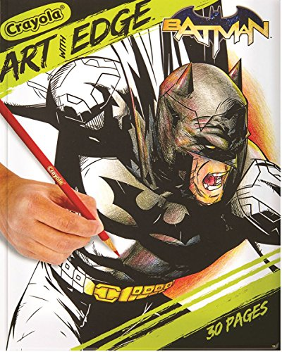 - Crayola Art with Edge Coloring Book, Batman, 30 Premium Coloring Pages, 8 x 10 inches