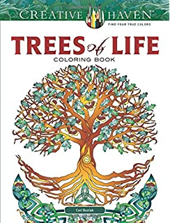 Creative Haven Beautiful Trees Coloring Book (Adult Coloring): Tim ...