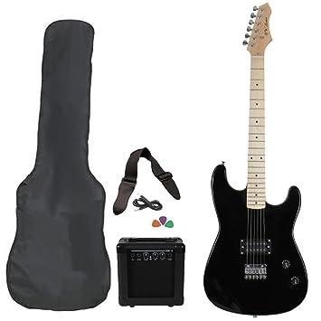 Jameson guitarras rwgt280bk tamaño completo guitarra eléctrica con amplificador y funda Starter Pack de accesorios, color negro: Amazon.es: Instrumentos ...