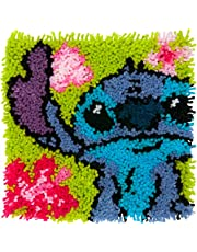 """Dimensions Arts and Crafts Lilo and Stitch Latch Hook Kit, Finished size: 12"""" x 12"""""""