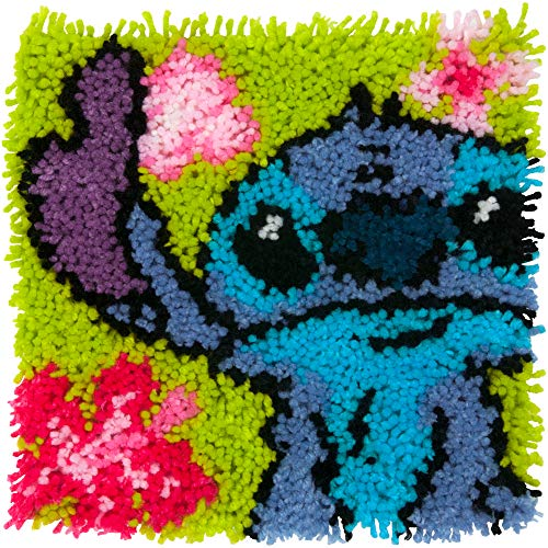 "Dimensions Arts and Crafts Lilo and Stitch Latch Hook Kit, Finished size: 12"" x 12"""
