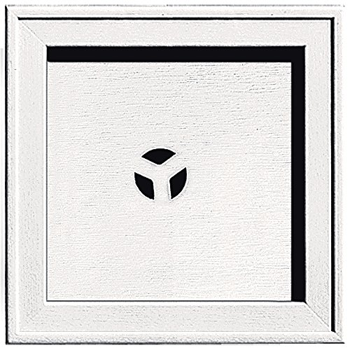 Builders Edge 130110004117 Recessed Square Mounting Block 117, Bright White (Square Block Mounting)