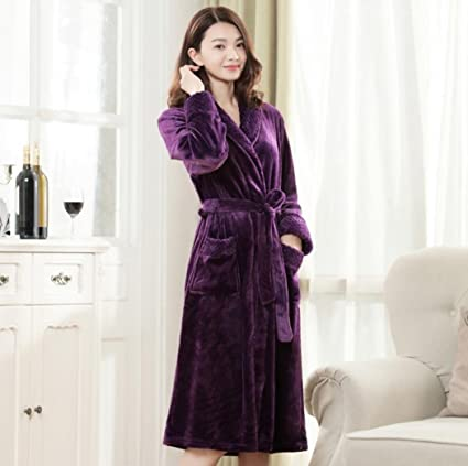 GAOYUHUA GY&H Batas de baño nuevas pijamas alargadas, más gruesas de inicio cómodo hombres y