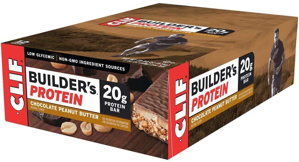 Clif Builders Protein Bars, Gluten Free & Vegan Friendly, Chocolate Peanut Butter, 12 x 68g
