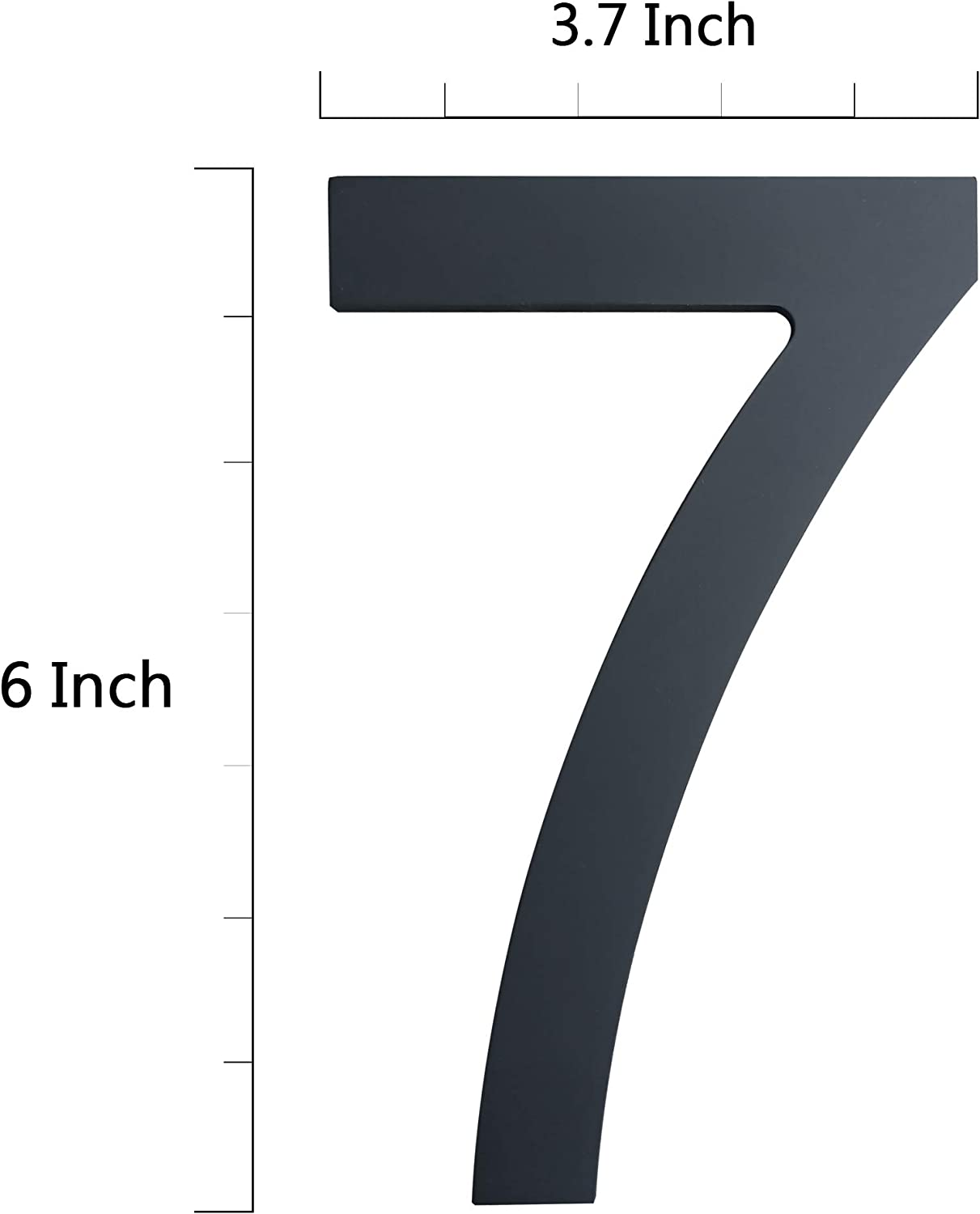 Modern Floating Stainless Steel Home Address Number-Solid Street Numbers for Outdoor//Exterior//Building//Apartment//Yard//Farmhouse//Elegant Black Finish Number 2 6 Inch House Numbers