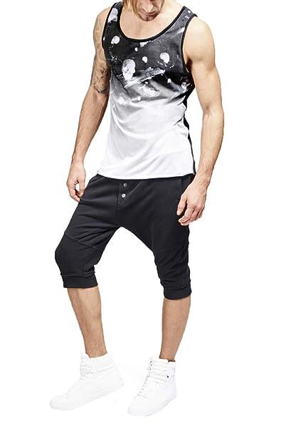 trueprodigy Casual Hombre Marca Camiseta De Tirantes Estampado Ropa Retro  Vintage Rock Vestir Moda Cuello Redondo Sin Manga Slim Fit Designer Cool  Urban ... 5fdcf55b385