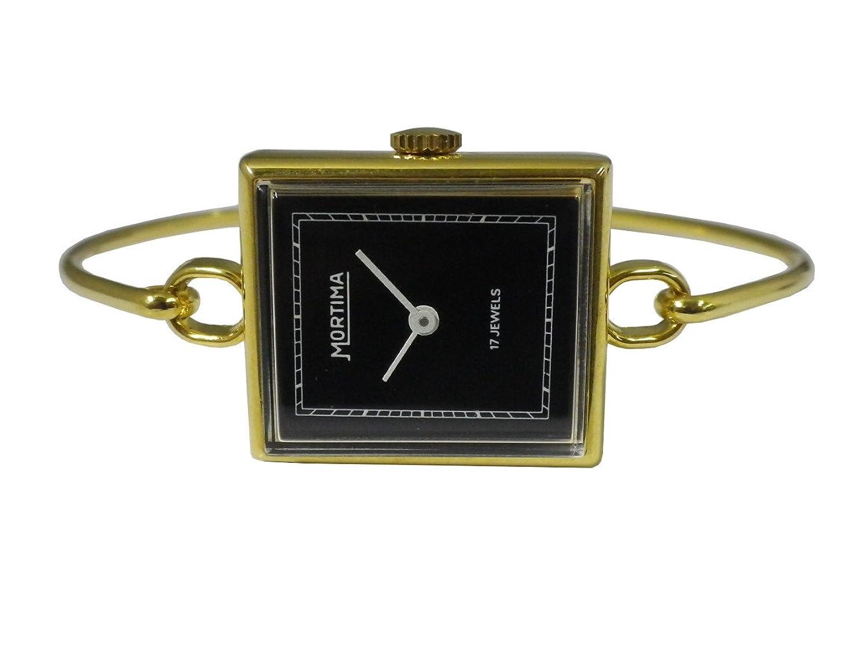 【モルティマ】MORTIMA WATCH 手巻腕時計 17石 レトロ アンティーク 古時計 ブレスレット OL.074-BK フランス製  B079RTMH7W