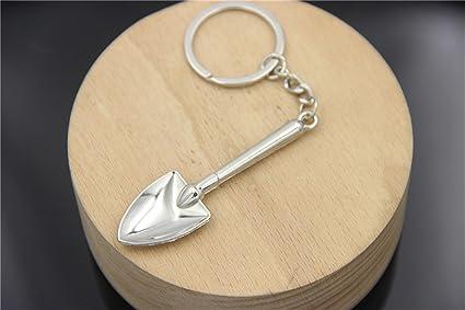 Gracioso Mini herramienta pala colgante llavero de metal ...
