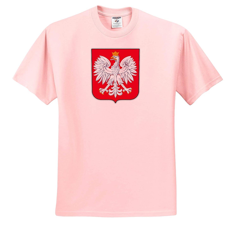 3dRose Carsten Reisinger ts/_319381 Poland Coat of Arms National Symbol Icon Illustrations Adult T-Shirt XL
