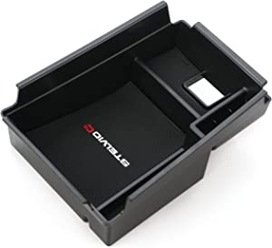 Vesul Armrest Secondary Storage Box Glove Pallet Center Console Tray Fits on Alfa Romeo Stelvio SUV 2018