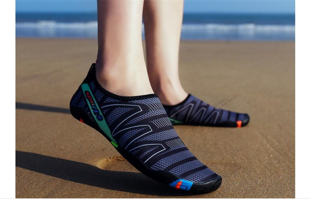 Cloudless Womens and Mens Water Shoes Barefoot Quick-Dry Aqua Socks B07FC6Z87X 39/8 B(M) US Women / 6 D(M) US Men|Black