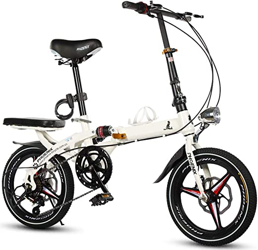 DPGPLP Bicicleta Plegable Plegable para Hombres Y Mujeres ...