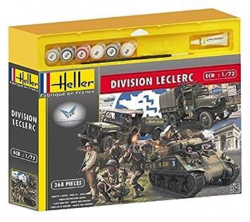 Heller - 53006 - Maquette - Division Leclerc - M4a2 Sherman, Gmc, Jeep,