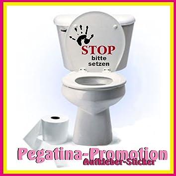 Sitzplatz WC Deckel Sticker Aufkleber Bad Toilette Schlange