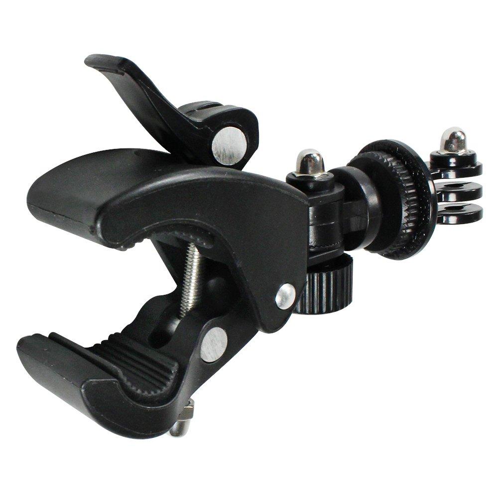 Leica Fujifilm COM-FOUR/® Supporto per fotocamera Supporto per bici e Montorrad Manubrio nero adatto per Nikon Olympus Kodak Canon Sony Samsung Panasonic e con adattatore per GoPro